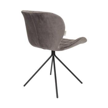 Set 2 scaune Zuiver OMG Velvet, gri de la Zuiver