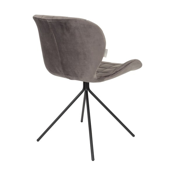 Set 2 scaune Zuiver OMG Velvet, gri