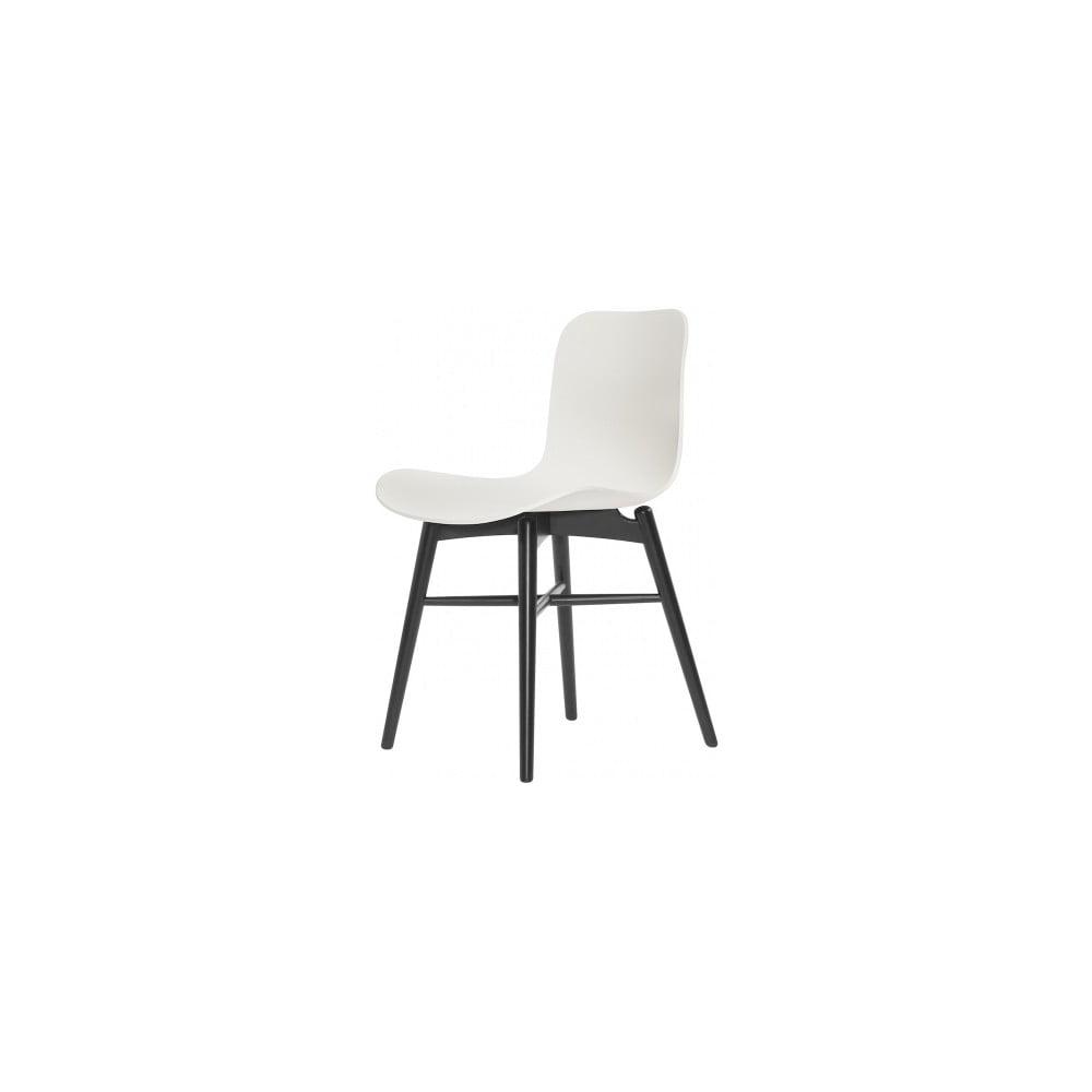 Bílá jídelní židle NORR11 Langue Dark