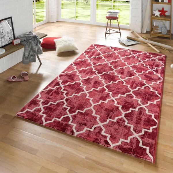 Červený koberec Mint Rugs Diamond, 160x230cm