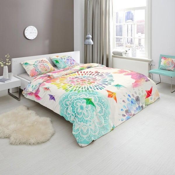 Lenjerie de pat din bumbac satinat HIP Elessa, 140 x 200 cm