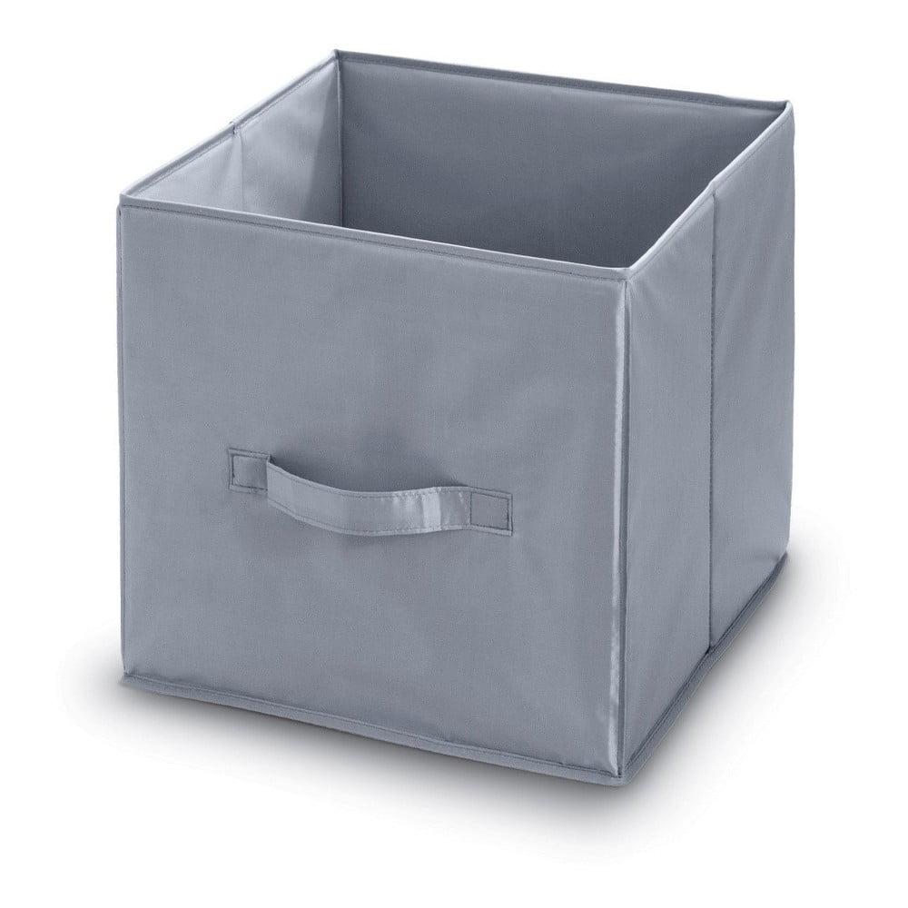 Šedý úložný box Domopak, délka 32 cm
