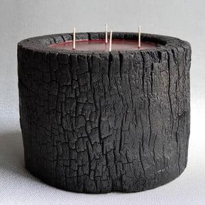 Palmová svíčka Legno Bordeaux s vůní exotického ovoce, 120 hodin hoření