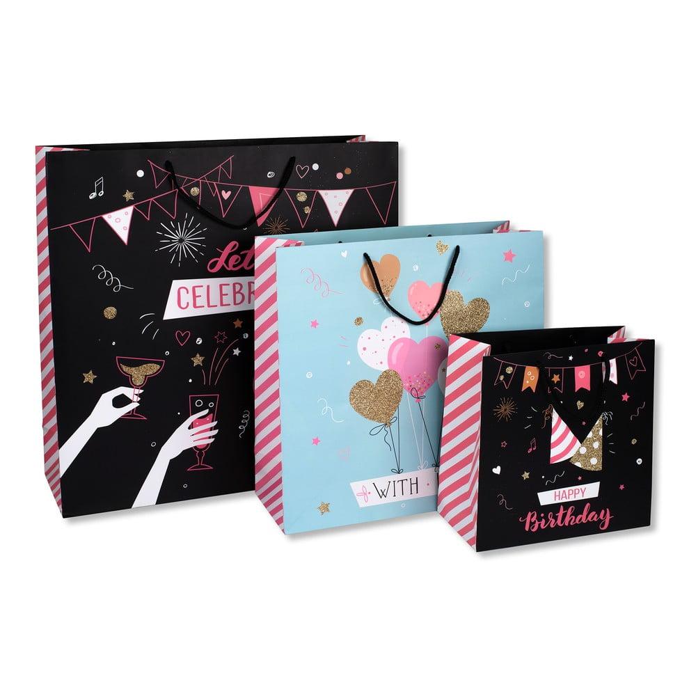 Sada 3 dárkových tašek z papíru Tri-CoastalDesign Glitter
