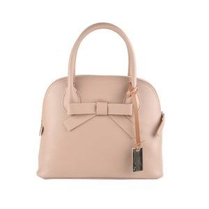 Pudrově růžová kožená kabelka Matilde Costa Puebla