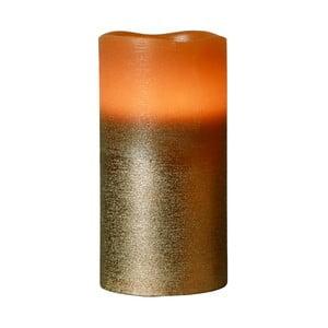 Hnědá LED svíčka Orange, 15 cm
