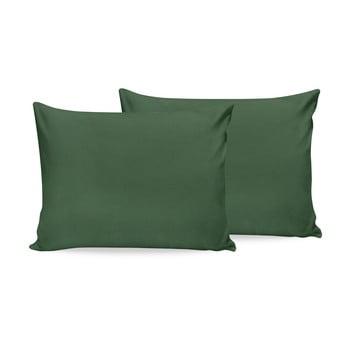 Set 2 fețe de pernă din bumbac Beverly Hills Polo Club, 50x70cm, verde