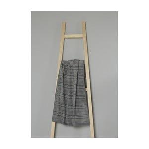 Tmavě šedý pruhovaný bavlněný ručník My Home Plus Spa, 50 x 90 cm