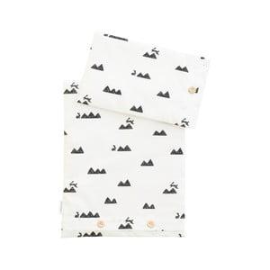 Závěsná bavlněná girlanda SoHomely Mountain and Rabbits, délka 320cm