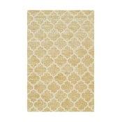 Ručně tuftovaný žlutý koberec Bakero Diamond, 153x244cm