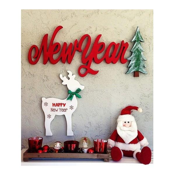 Decorațiune de perete pentru Crăciun New Year, 70x2x30 cm