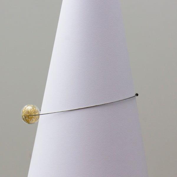 Skleněný náhrdelník ko-ra-le Wired, zlatý