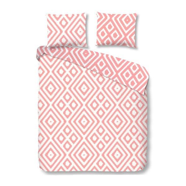 Růžové bavlněné povlečení Good Morning Frits, 140 x 200 cm