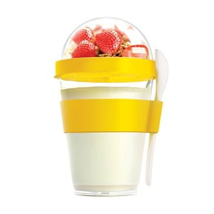 Pahar pentru gustări Asobu Yo2GO, 360 ml, galben