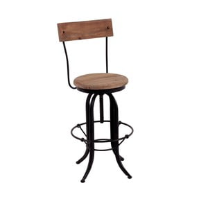 Barová židle s detaily z jedlového dřeva Miloo Home Loft