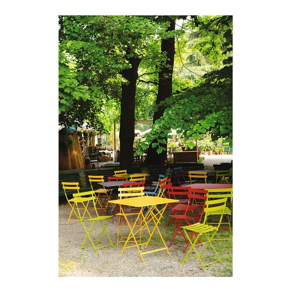 Sada 2 žlutých skládacích židlí Fermob Bistro