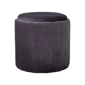 Šedá čalouněná stolička Native Mystique, ⌀ 43 cm
