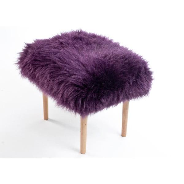 Stolička z ovčí kůže Carys Aubergine