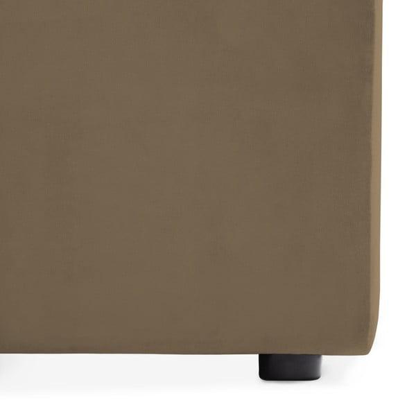 Hnědošedá třímístná modulová pohovka Vivonita Velvet Cube
