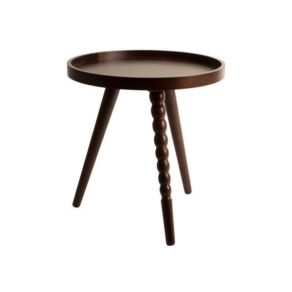 Konferenční stolek v ořechovém dekoru Dutchbone, ⌀ 40 cm