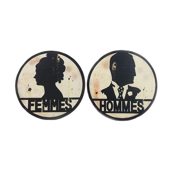 Plăcuțe pentru ușa de toaletă Antic Line Femmes/Hommes