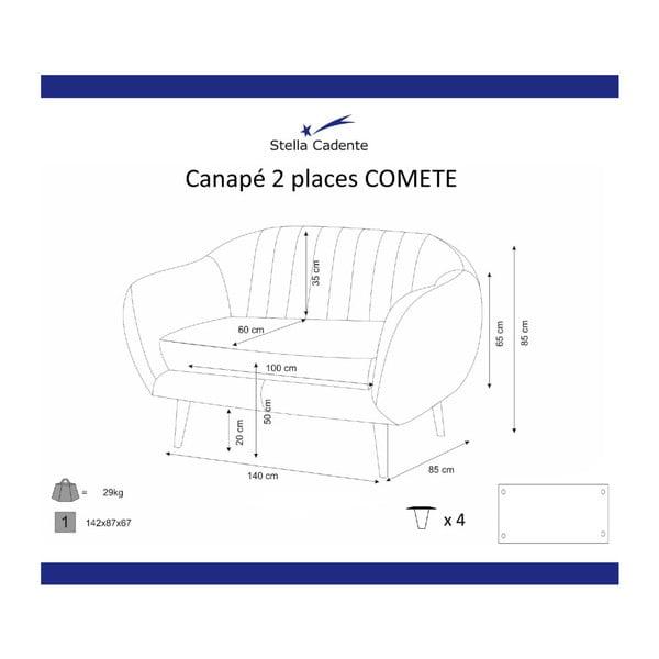 Fialová dvoumístná pohovka Scandi by Stella Cadente Maison Comete