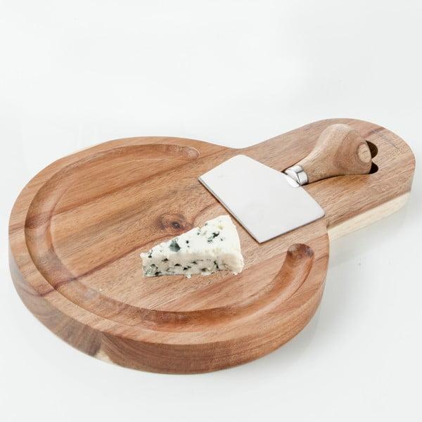 Prkénko s nožem na sýry Brandani Planche