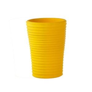Žlutý květináč Slide S-Pot, 50x38cm