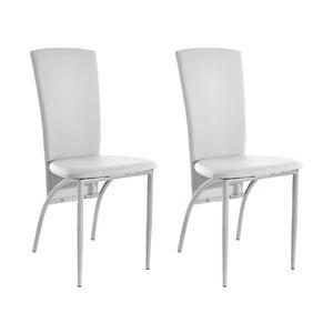 Sada 2 bílých  jídelních židlí Støraa Nevada