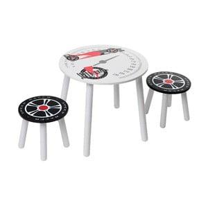 Dětský stolek a 2 stoličky Racer