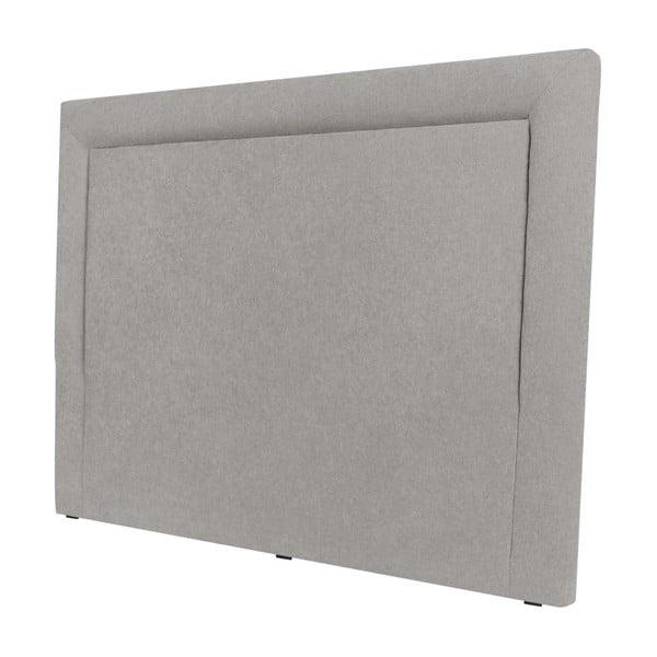 Světle šedé čelo postele Mazzini Sofas Ancona, 140 x 120 cm