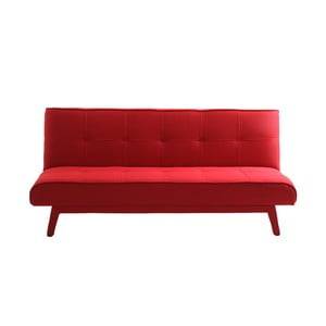 Červená  rozkládací dvoumístná pohovka Custom Form Modes