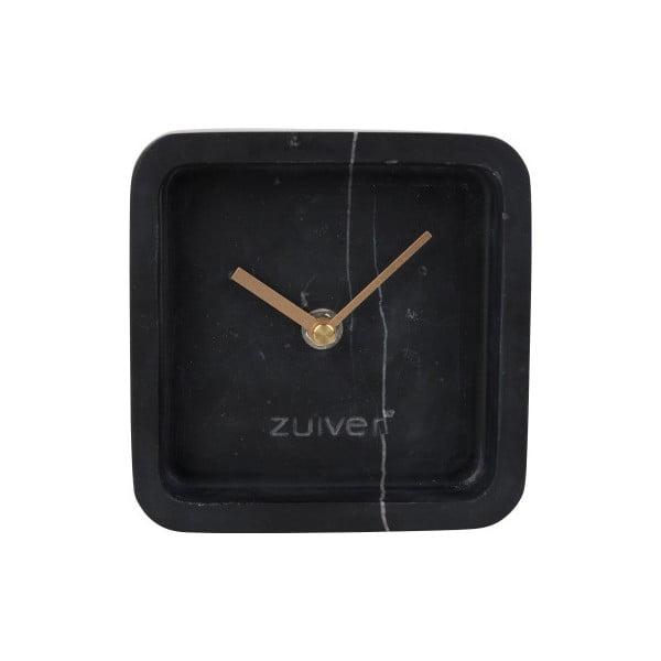 Čierne nástenné mramorové hodiny Zuiver Luxury Time