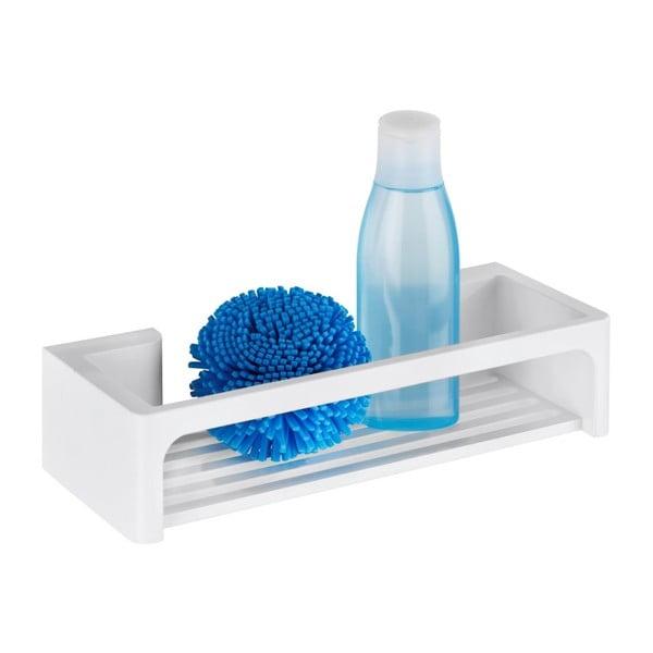 Bílá samodržicí nástěnná koupelnová polička Wenko Bralia