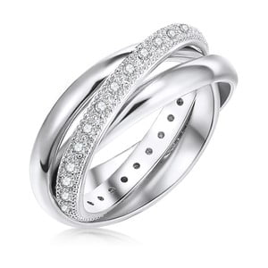 Dámský prsten stříbrné barvy Runaway Clarita, 56