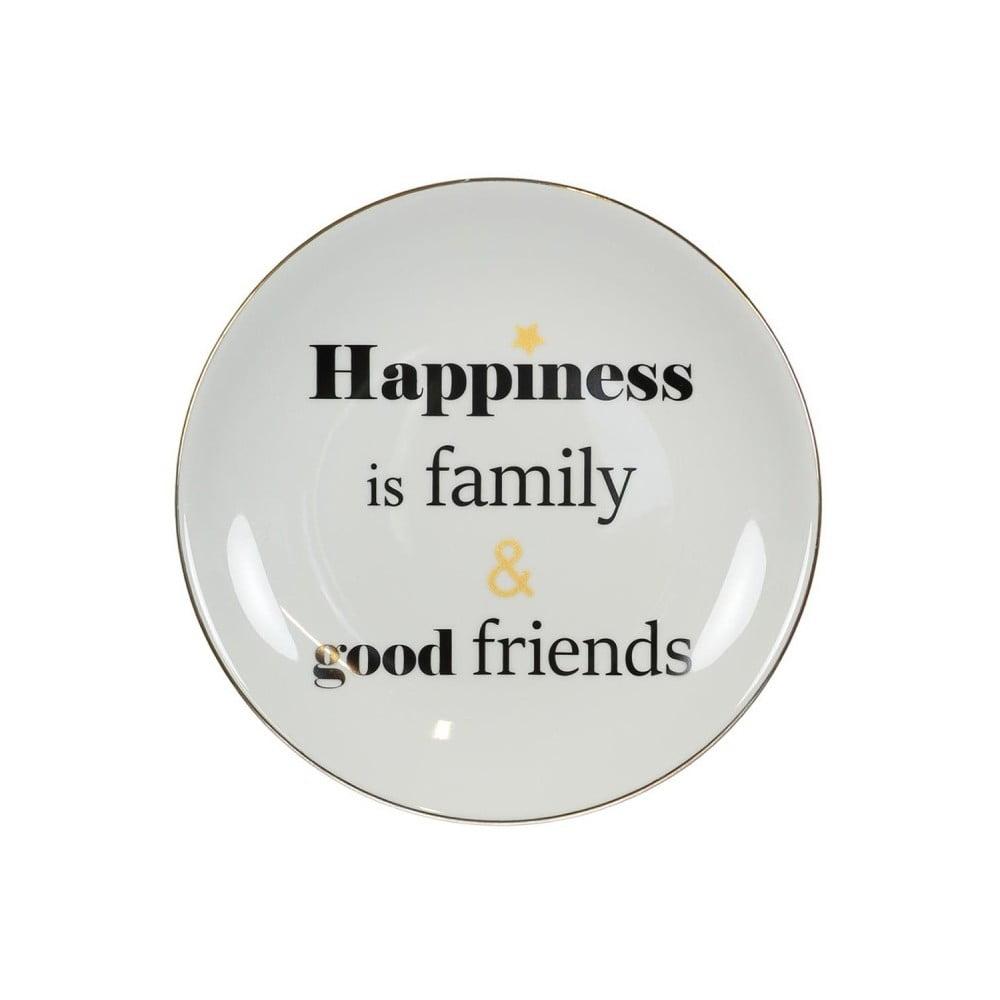 Porcelánový talíř Vivas Happiness, Ø23cm