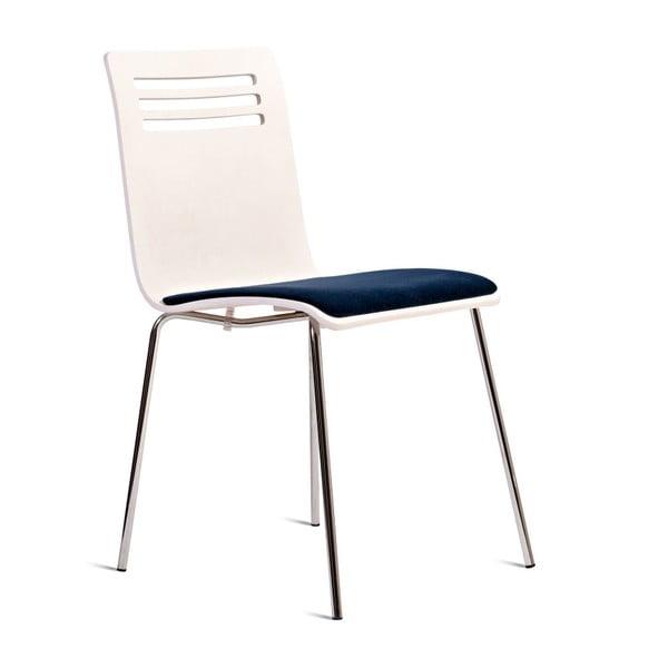 Scaun cu șezut din lemn de fag Charlie Pommier Comfort, alb