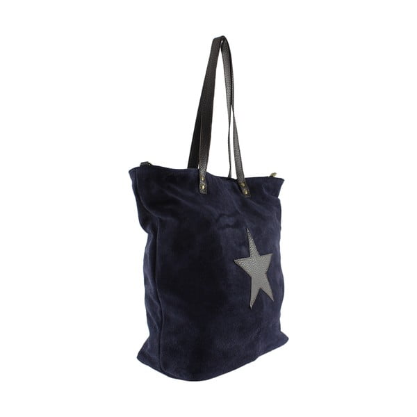 Kožená kabelka Frenze, modrá