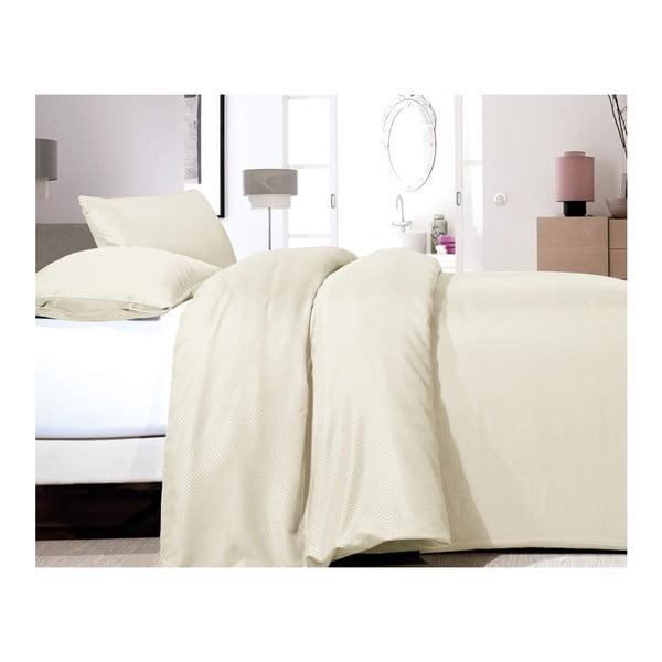 Lenjerie de pat din micropercal Zensation Satin Point, 200 x 200 cm, crem