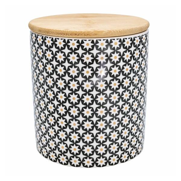Ceramiczny pojemnik na żywność z drewnianym wieczkiem Green Gate Lara