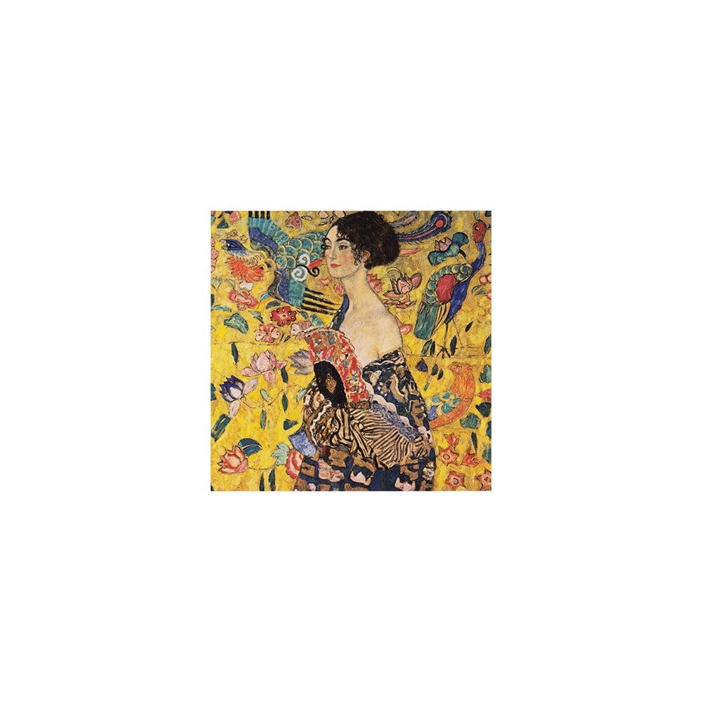 Reprodukce obrazu Gustav Klimt - Lady With Fan, 50 x 50 cm
