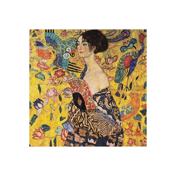 Reprodukcja obrazu Gustava Klimta – Lady With Fan, 40x40 cm