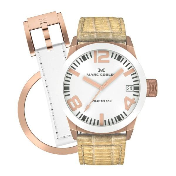 Dámské hodinky Marc Coblen s páskem a kroužkem navíc P82