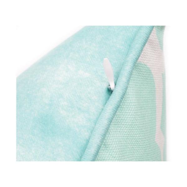 Față de pernă albastră WeLoveBeds Clover, 40 x 60 cm