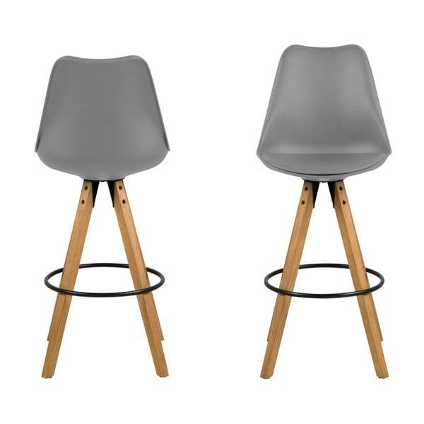Set 2 scaune de bar Actona Dima, gri