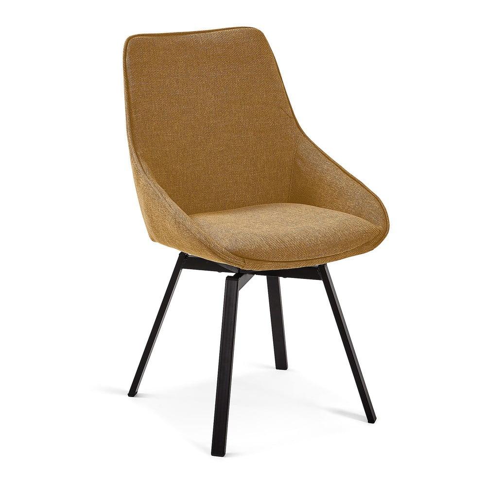 Hořčičně žlutá jídelní židle La Forma Haston