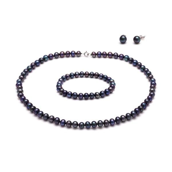 Sada náhrdelníku a náramku z říčních perel Peacock