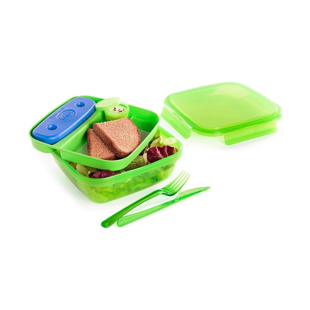 Zelený obědový box s příborem a chladičem Snips Lunch