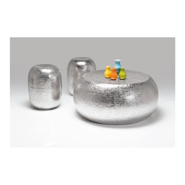 Sada 3 odkládacích stolků ve stříbrné barvě Kare Design Antico