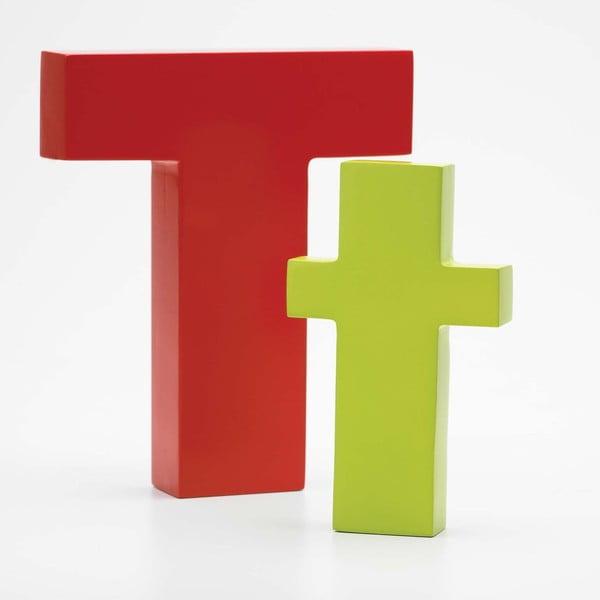 """Velké """"T"""" 17x14 cm, červená"""